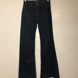 """7 for all Mankind """"Ginger,"""" flared jeans, size 25"""